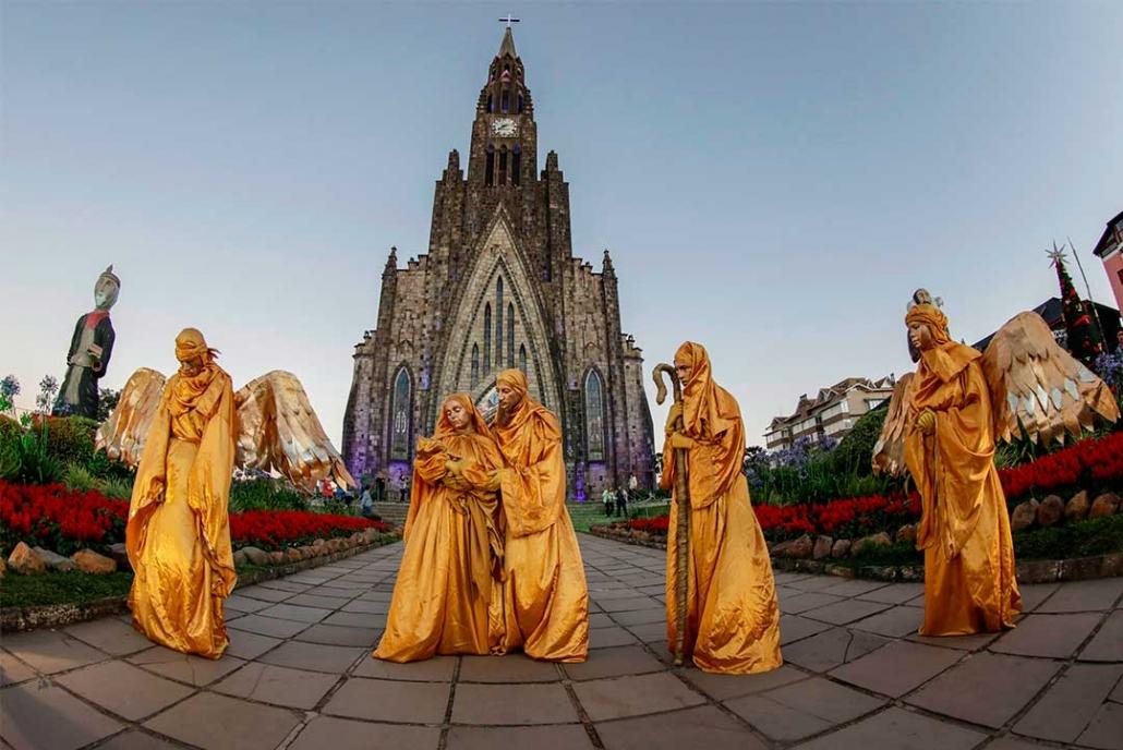 Natal de Canela - Estátuas